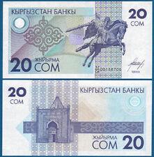 Kirghizstan/Kyrgyzstan 20 som (1993) unc pick 6