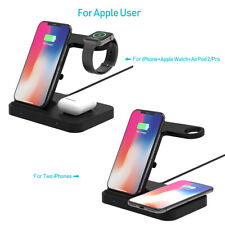 5 In1 Qi Wireless Charger For iWatch 5/4/3/2/1 Galaxy Watch i Phone 11 8 X XS XR