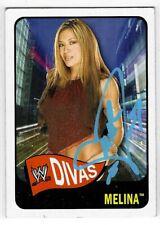Melina Perez Signed 2005 Topps Heritage WWE Divas Card #70