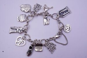 JAMES AVERY 12 Charms Sterling Silver FAMILY THEMED Bracelet