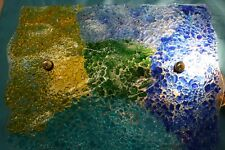 Wall Light.Decorative Handmade Multi Coloured Glass
