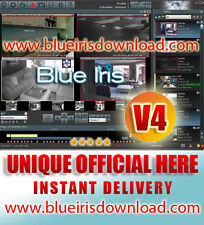 Blue Iris Pro v4.x (Latest) Video Camera Security Software - Full License Life