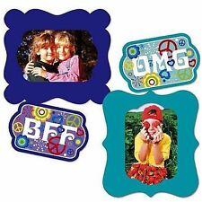 "Set of 2 Magnetic Vinyl Flex Photo Picture Frames 7"" x 8"" BFF OMG Best Friends"
