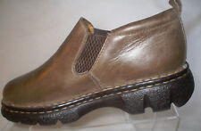 Born Brown/Grey Pull On Elastic Round Toe Slip On Loafers Shoes Woman's 7M/W