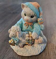 "Calico Kittens ""Ewe Warm My Heart� (1993) Enesco 628182 Cat Figurine - Pre-owned"
