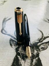 1950's Parker Duofold Maxima aerometric fountain pen, Num 50 14k B nib, serviced