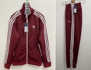 Adidas x Human Made Firebird Tracksuit Collegiate Burgundy Grey Size M