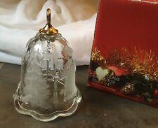 "Mikasa Santa Claus Glass Christmas Bell 4 1/4"" Germany"