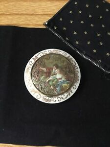 Antique French Celluloid Powder Compact