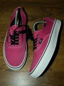 Vans Off The Wall pink fabric lace up shoes trainers uk M8 W9.5 uk 7 eur 40.5