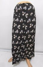 Free People Juniors Size 5 Boho Floral A-Line Button-Front Long Rayon Skirt