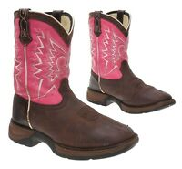 DURANGO Cowboy Boots 4 M Youth Kids Brown Western Rodeo Boots PEEWEE Riding Boot