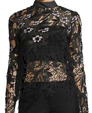NWT $375 UK8/US4 SELF-PORTRAIT Vine Floral Lace Long Sleeve Blouse Top
