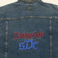 Snoop Dogg Jeans Men's Denim Vest Size XL Extra Large Distressed DOGGYSTYLE SDC