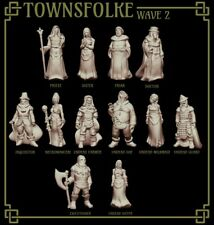 RPG Miniatures - Townsfolke Collection Set 2 - NPCs - Stats PDF for 5E Included
