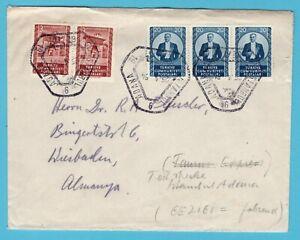 TURKEY cover 1954 railroad cancel Adana-Istanbul to Germany