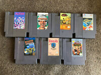 Lot Of 7 NES Nintendo Entertainment System Games - Tested (Faxanadu, Dr Mario..)