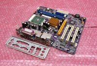 ECS KM400-M Socket 462 DDR2 AGP PCI VGA System Motherboard and Backplate