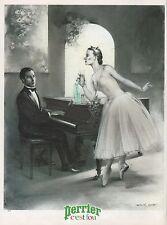 Publicité Perrier Danseuse etoile classique tutu vintage  ad   1982 -4j