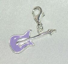 CIONDOLO CHITARRA [ Argento Sterling 925 ] colore: Viola
