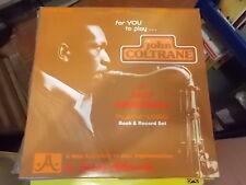 JOHN COLTRANE 8 JAZZ ORIGINALS PLAY A LONG VOLUME 28 JAMEY AEBERSOLD LP