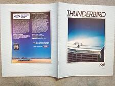 1981 FORD THUNDERBIRD BROCHURE
