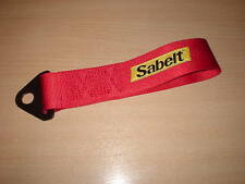 Sabelt Competition Car Fixed Tow Eye Strap/Webbing Red,race rally track car etc