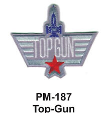 """3"""" TOP-GUN Embroidered Military Patch"""