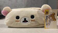 Rilakkuma Korilakkuma Face Plush Zipper Pencil Case Japan Kawaii Bear New