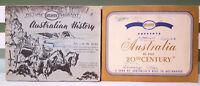 Lot of 2x Atlantic Australia in the 20th Century Card Albums! Vintage Books!