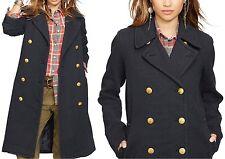 new Ralph Lauren Denim & Supply Polo military coat peacoat jacket, L, MSRP $298
