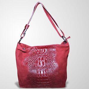 Schultertasche Ledertasche Tasche Henkeltasche Umhängetasche Handtasche Rot