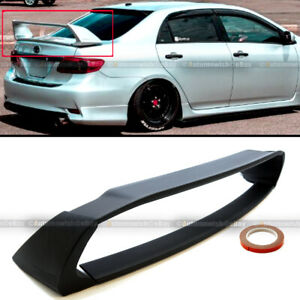 Fit 09-13 Toyota Corolla JDM ABS Unpainted Mugen Style 4Pic Trunk Wing Spoiler