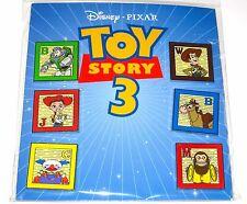 Disney Booster 6 Pin SET✿Toy Story Buzz Woody Alphabet Blocks Bullseye Monkey