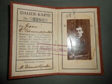 #8568 Germany Munich exhibition identification pass 1910 w/ rare cindirella 1910