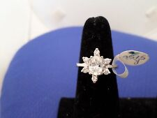 Snowflake Ring in 925 solid sterling silver