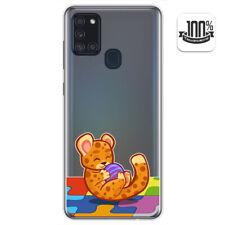 Funda Gel Transparente para Samsung Galaxy A21s diseño Leopardo Dibujos