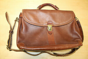BALLY  - SOFT Brown Leather Briefcase Messenger Bag Attaché - NICE!