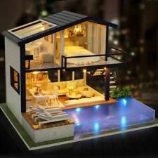 More details for miniature furniture kit led light handcraft doll house diy gift for boy girl