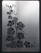 Climbing Grapevine Corner Stainless Steel Metal Stencil Template 12.5cm x 8.5cm