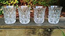 4 VTG Depression Glass Imperial Mt Mount Vernon 4 oz Flat Tumbler Flared Rim