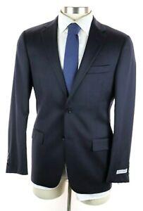 NWT $1595 HICKEY FREEMAN Milburn II Dark Blue Stripe Wool Suit 38 R (fits 40 R)