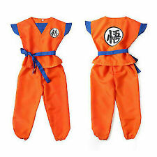 3pcs/set Kids  Anime Dragon Ball Z Son GoKu Cosplay Costume Outfit Halloween NEW