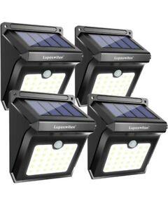 28 LEDs Solar Lights Outdoor, Luposwiten Solar Motion Sensor Lights Wireless Set