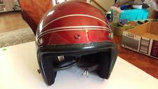 Vintage ARAI Helmet Classic 1970's Motorcycle Helmet w/Silver Pinstriping