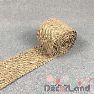 10cm X 10m hessian roll Burlap Ribbon Vintage Rustic Wedding Decoration Sash