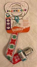 Ulubulu Universal Pacifier Clip Pointsettia Design Personalize Christmas New