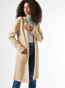 Dorothy Perkins Womens Oatmeal Coatigan Long Sleeve Cardigan Knitwear Top