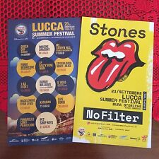 THE ROLLING STONES 2017 2 x double side flyer Green Day Williams Kasabian LUCCA