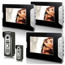 "Video Citofono 3 Monitor 7"" a colori 2 pulsantiere"